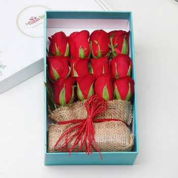 12 Red Roses Jute Arrangement in a MFT Signature Box