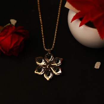 One Flower Shape Designer Stone Pendant