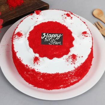 Half Kg Red Velvet Cake for New Year