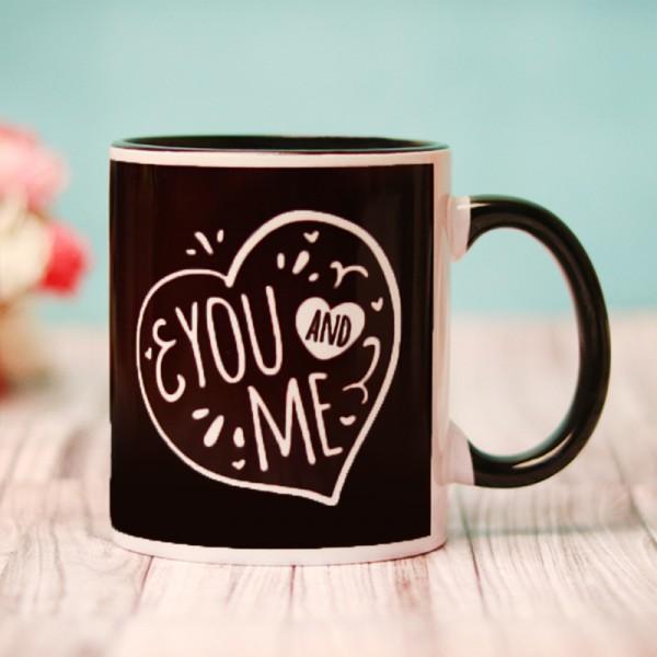 Black Handle Coffee Mug