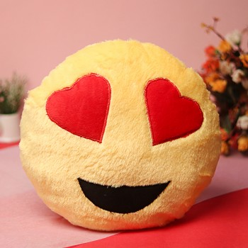One Smiley Round Shape Cushion
