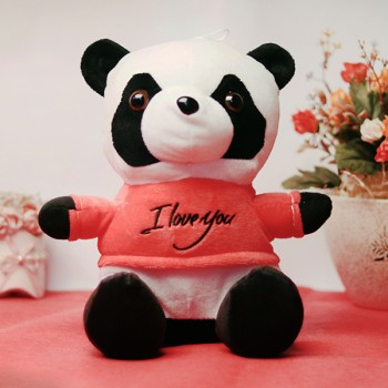 One 6 inches White Back Panda Teddy