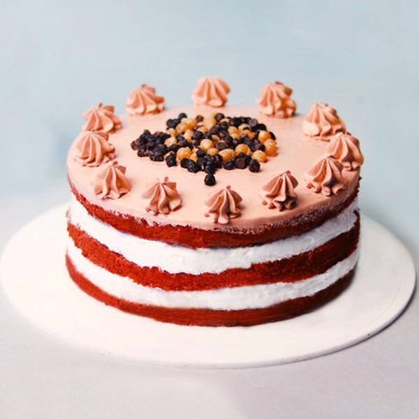 Half Kg Red Velvet Layer Cream Cake