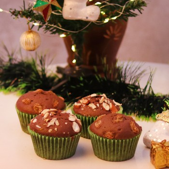 Set of 4 Chocolate DryFruit Muffins