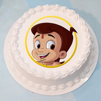 Half Kg Chota Bheem Photo Vanilla Cream Cake