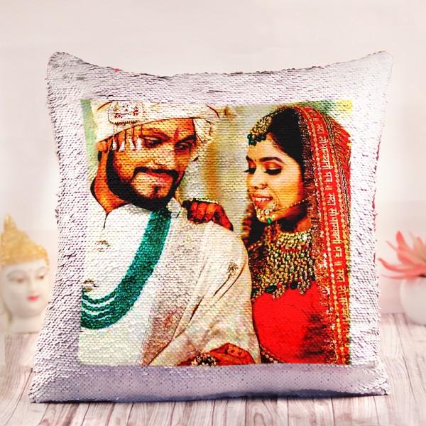 One Personalised Photo Magic Cushion