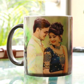 One Personalised Photo Magic Mug for Anniversary
