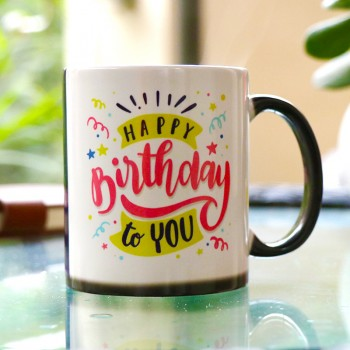 One Personalised Photo Magic Mug for Birthday
