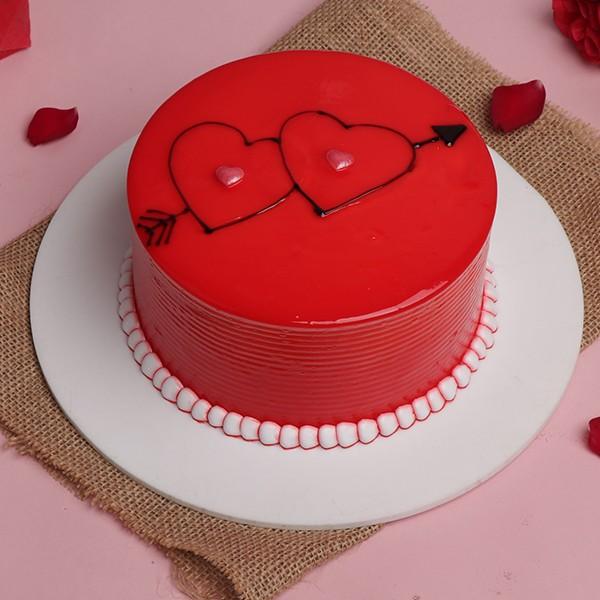 Strawberry Designer Cake Made Exactly in Shape