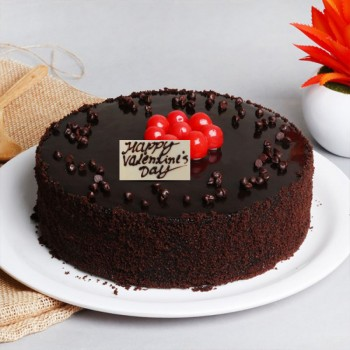 Valentines Day Chocolate Truffle Cake