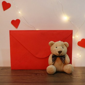 Small Teddy Bear with Greeting Card