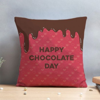 Happy Chocolate Day Cushion