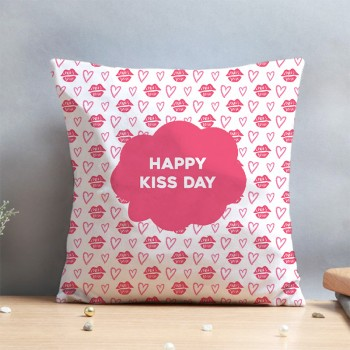 Happy Kiss day Cushion