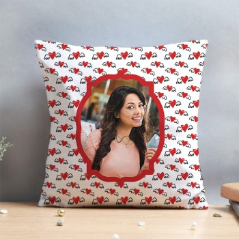 Personalised Flying in Love Cushion