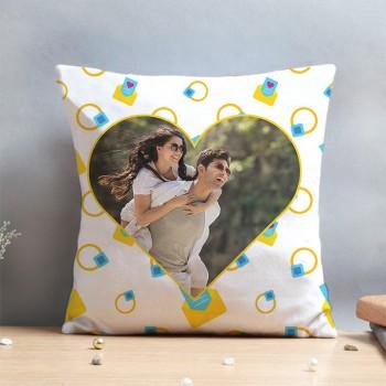 One Heart Design Personalised Photo Couple Cushion