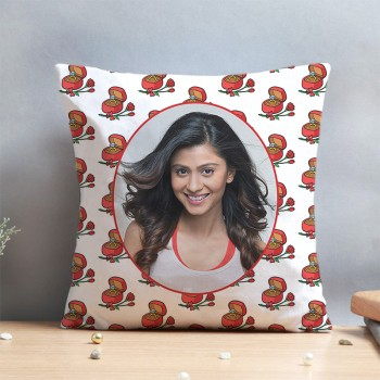 One Personalised Photo Cushion for Propose Day