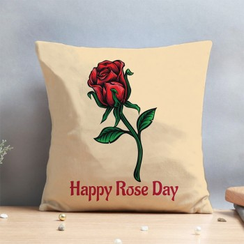 Happy Rose Day Cushion
