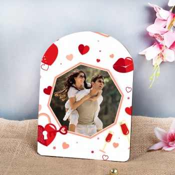 One Personalised Photo Table Top 7 inches of Height