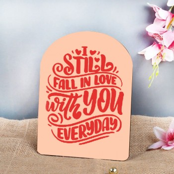 Always in Love Printed Quote Table Top