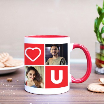 I Love U Theme Personalised Coffee Mug