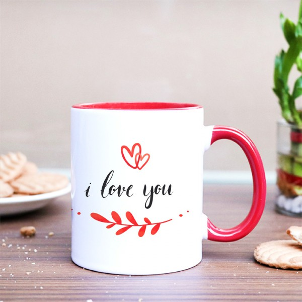 I Love You Printed Coffee Mug