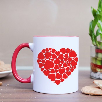 Red Heart Designer Coffee Mug