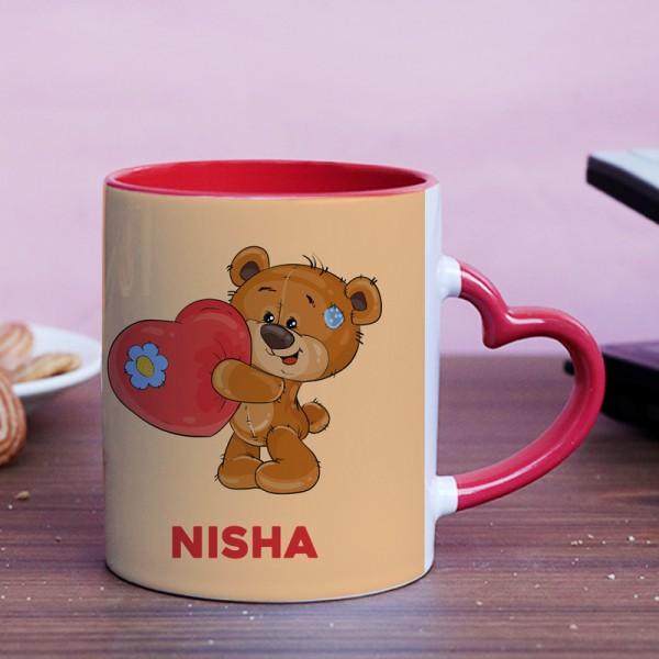 Teddy Printed Personalised Name Coffee Mug