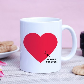 One Heart Theme White Ceramic Mug (350 ml)