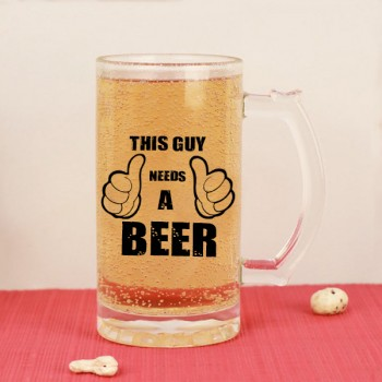 Beer Mug with Printed Quote