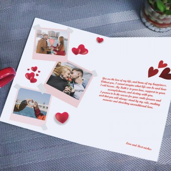 One Personalised Photo Love U Greeting Card