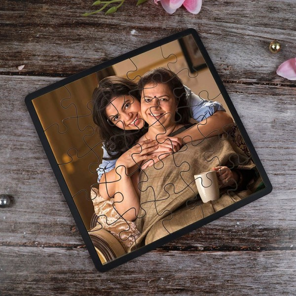 One Personalised Square Shape Puzzlefor Mom