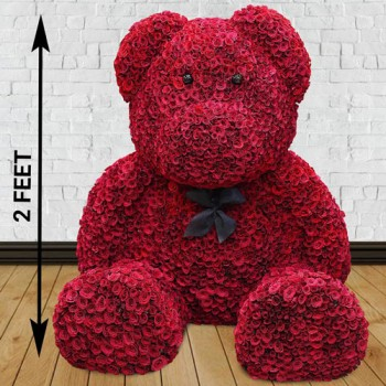1000 Red Roses Teddy Arrangement
