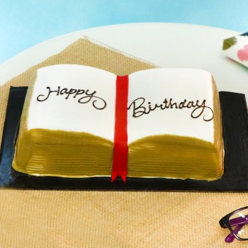 One Kg Chocolate Truffle Cake in the Shape of Book for Birthday