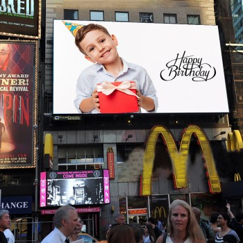 Personalised Billboard E Poster for Birthday