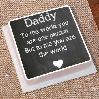 Half Kg Fathers Day Photo Printed Cake