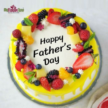 Half Kg Fathers Day Pineapple Fruit Cake