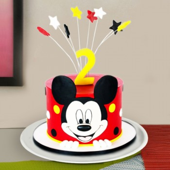 One Kg Mickey Mouse Fondant Cake