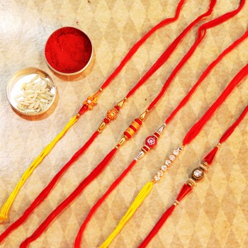 Set of 6 Designer Rakhi for Brothers
