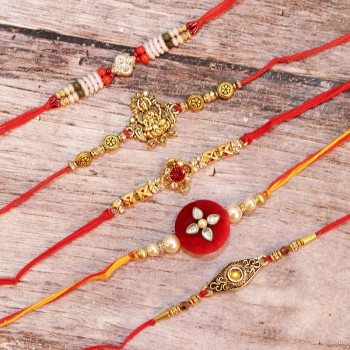 Set of 5 Alluring Rakhis