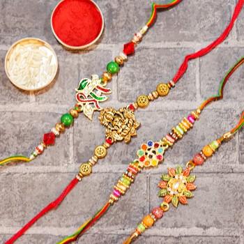 Ceremonial Rakhi Combo
