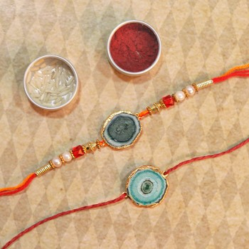 Set of 2 Designer Thread Rakhi