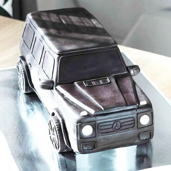 2 Kg Suv Car Shape Chocolate Fondant Designer Cake