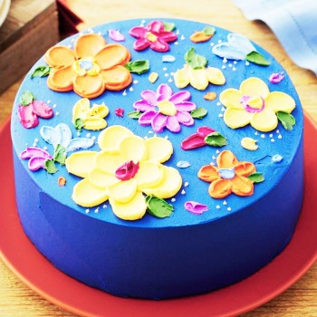 1 Kg Floral Theme Fondant Cake