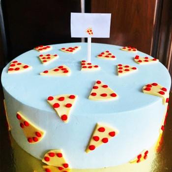 1 kg Pizza Theme Fondant Cake