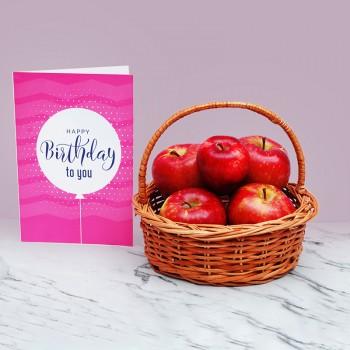 1 Kg Fruit Basket with Greeting Card