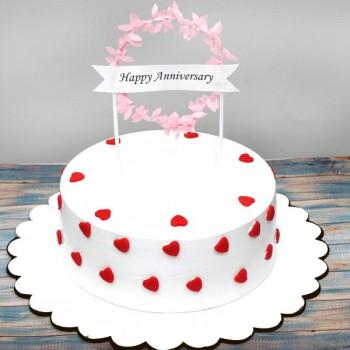 Happy Anniversary Vanilla Cake