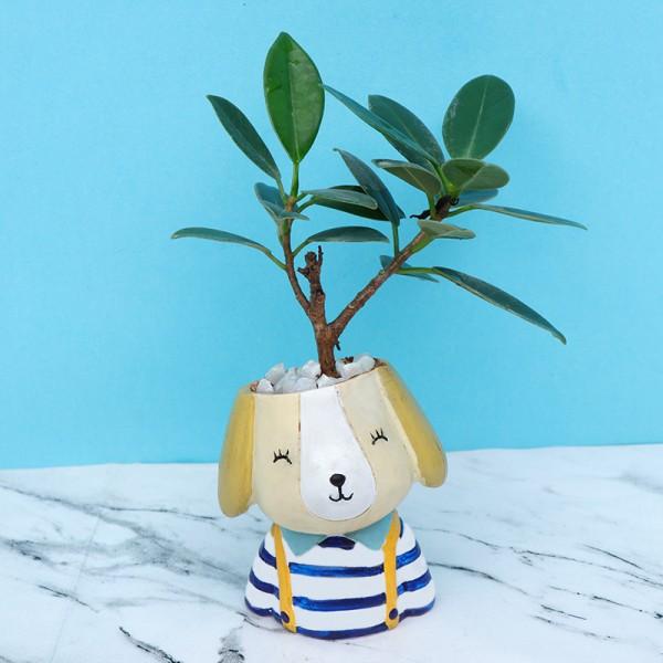 Dog Shape Designer Pot Plant