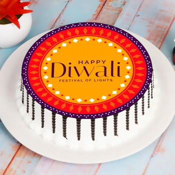 Happy Diwali Photo Cake