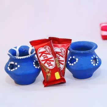 Matki Diya and Kitkat Chocolate