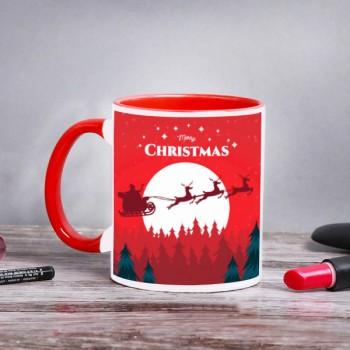 Christmas Red Handle Mug